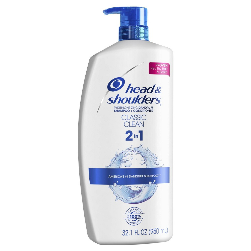 Image of Head and Shoulders Classic Clean Anti-Dandruff 2 in 1 Shampoo and Conditioner - 32.1 fl oz, Size: 33.9fl oz