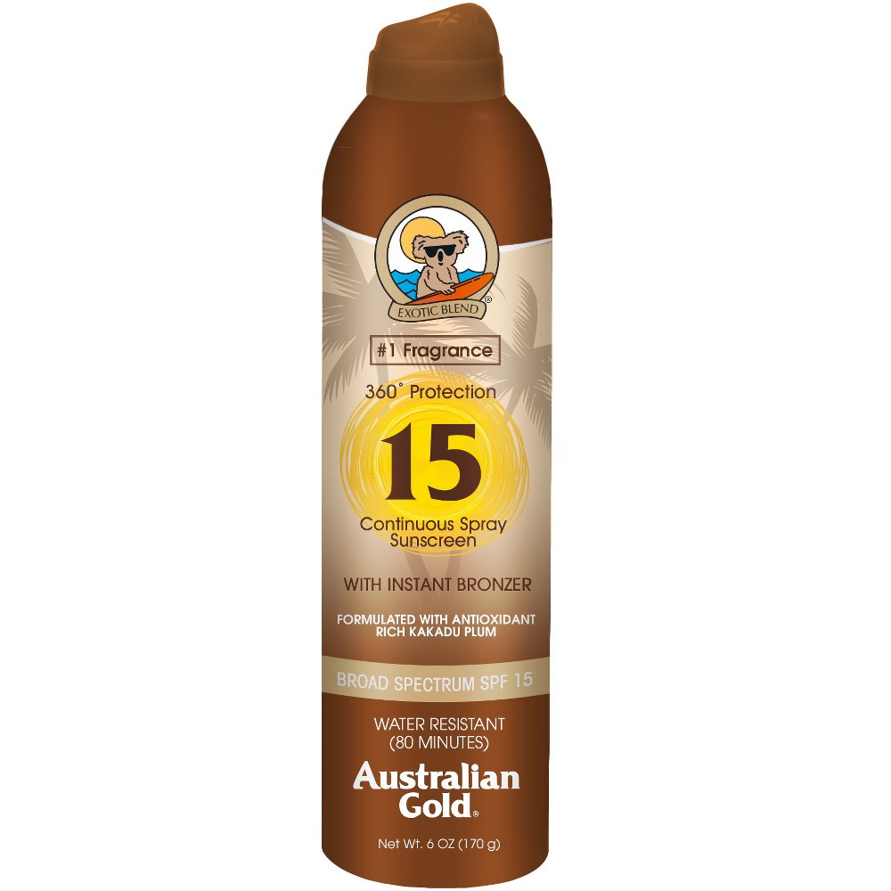 Australian Gold Sunscreen Continuous Spray - Spf 15 - 6oz