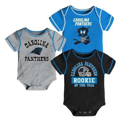 big sale d28e0 ad13e Carolina Panthers Boys' Newest Fan 3pk Bodysuit Set 3-6M