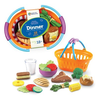 Learning Resouces New Sprouts - Play Dinner Basket, 18 Pieces, Ages 18 mos+