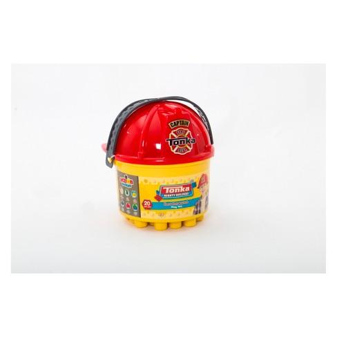 Tonka 20pc Hard Hat Bucket Fire   Construction With Blocks   Target 44d03571605a