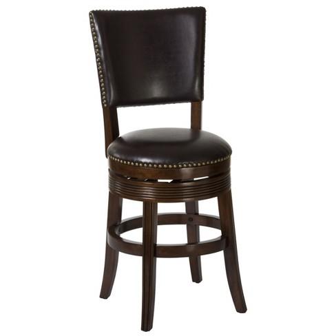 "26"" Sonesta Swivel Counter Stool Brown - Hillsdale Furniture - image 1 of 4"