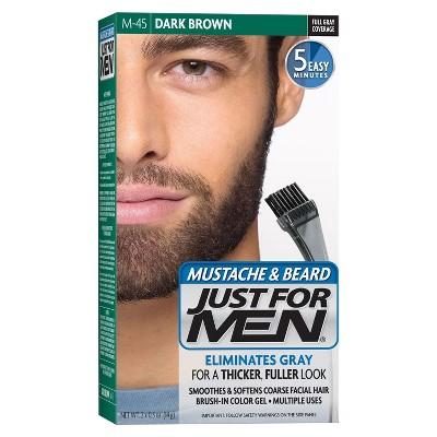 Just For Men Mustache and Beard Men's Hair Color, Dark Brown M-45