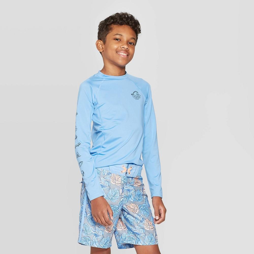 Boys 39 Long Sleeve Rash Guard Swim Shirt art class 8482
