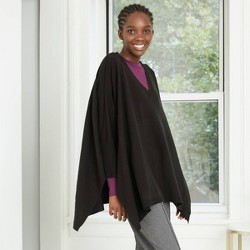 Women's V-Neck Poncho Sweater - A New Day™ One Size