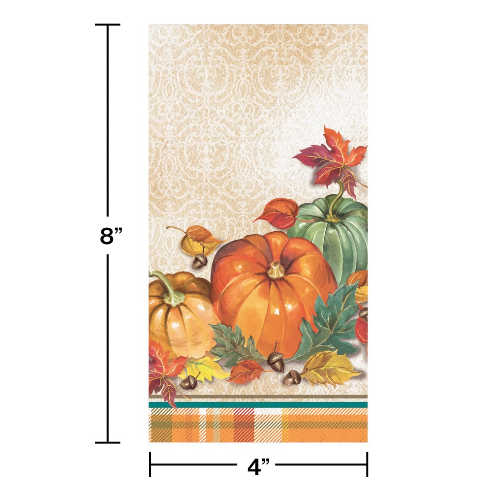 16ct Traditional Thanksgiving Dinner Napkins