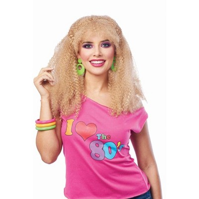 Costume Culture by Franco LLC 80's Crimped Adult Costume Wig | Blonde