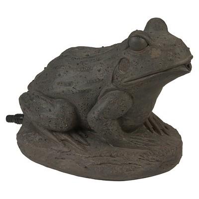 "6.5"" Pond Boss Frog Spitter - Brown"