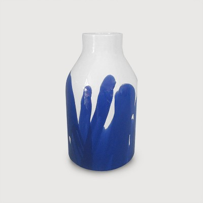 Stoneware Vase Tall - Blue/White - Project 62™