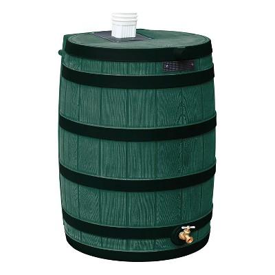 Good Ideas Rain Wizard Rain Collection Rain Barrel 40-Gal. Darkened Ribs, Green