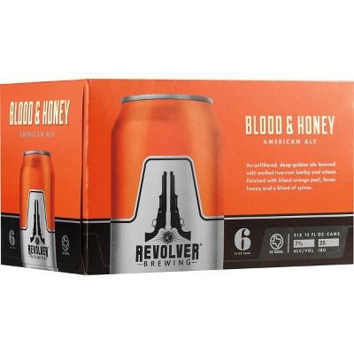 Revolver Blood & Honey Ale Beer - 6pk/12 fl oz Cans