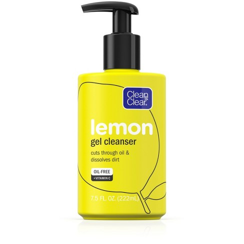 Clean & Clear Lemon Gel Facial Cleanser with Vitamin C - 7.5 fl oz - image 1 of 4