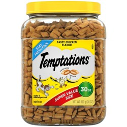 TEMPTATIONS Classic Treats for Cats Tasty Chicken 30 ozs