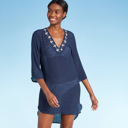 Women's Embroidered Trim Cover Up Dress - Kona Sol™ - image 1 of 2