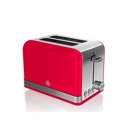 Salton Swan Retro 2-Slice Toaster - Red