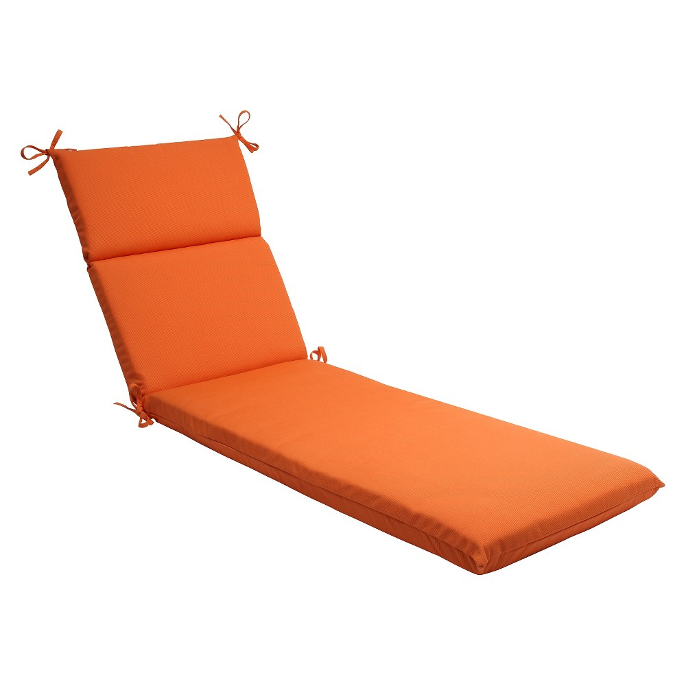 Sunbrella Canvas Outdoor Chaise Lounge Cushion - Orange