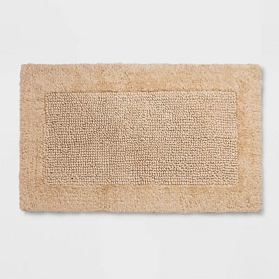 "20""x34"" Performance Textured Bath Rug Tan - Threshold™"