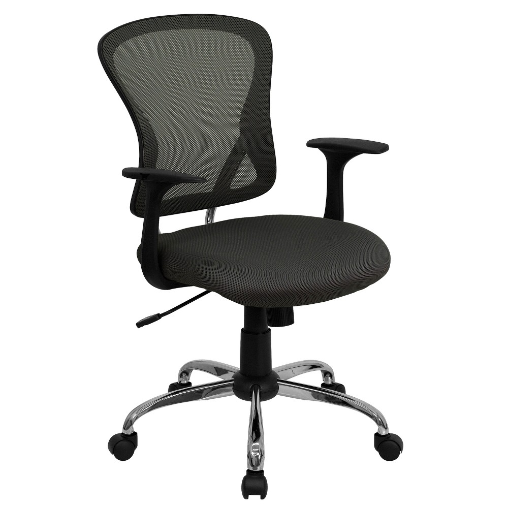 Riverstone Furniture Collection Dark Mid Back Task Chair Dark Gray