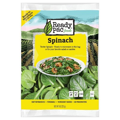 Ready Pac Foods Microwavable Spinach salads - 9oz