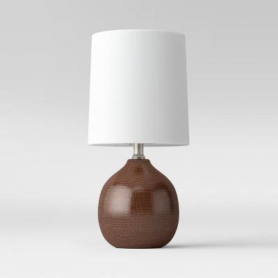 Textural Ceramic Mini Table Lamp (Includes LED Light Bulb)Brown - Threshold™