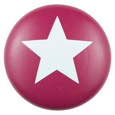 Sumner Street Home Hardware 4pc Star Painted Knob Red