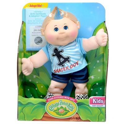 "Cabbage Patch Kids 14"" Skateboard Boy Blonde Hair Blue Eyes"