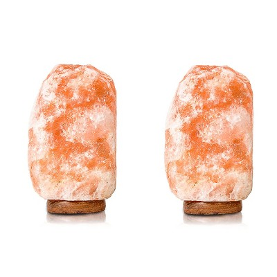 Salacia Heart of the Himalayan Electric Salt Lamp Light w/ Dimmer, Pink (2 Pack)
