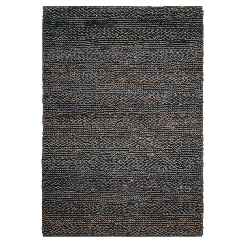 Gray Solid Woven Accent Rug 4'X6' - Safavieh
