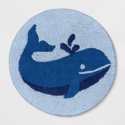 """24"""" Whale Bath Rug Blue - Pillowfort™"""