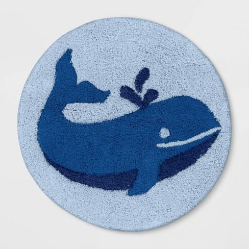 "24"" Whale Bath Rug Blue - Pillowfort™ - image 1 of 2"