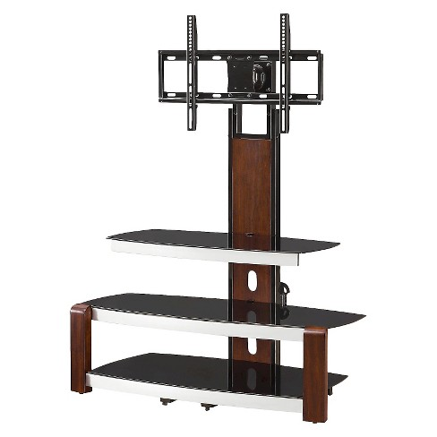 London Flat Panel Console With Swing Floater Fixed Arms Brown 41 Whalen