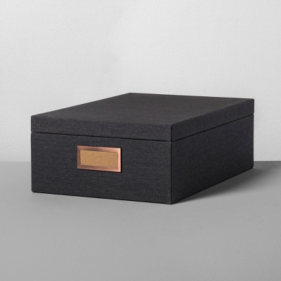 Storage Box Large - Charcoal - Hearth & Hand™ with Magnolia