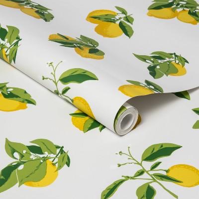 Lemons Peel & Stick Wallpaper Yellow - Opalhouse™