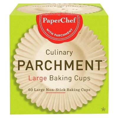 PaperChef Large Baking Parchment Cups - 60ct
