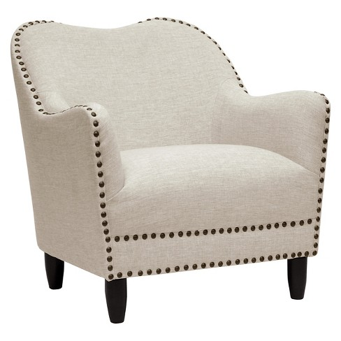 Seibert Linen Modern Accent Chair - Beige - Baxton Studio - image 1 of 6