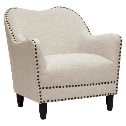 Seibert Linen Modern Accent Chair - Beige - Baxton Studio - image 1 of 4