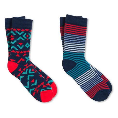 Kids' Pair of Thieves Crew Socks Red Turquoise - image 1 of 1