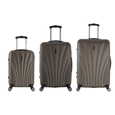 "InUSA Chicago 3pc Hardside Spinner Luggage Set 21""& 25""& 29"" - Brown - image 1 of 5"