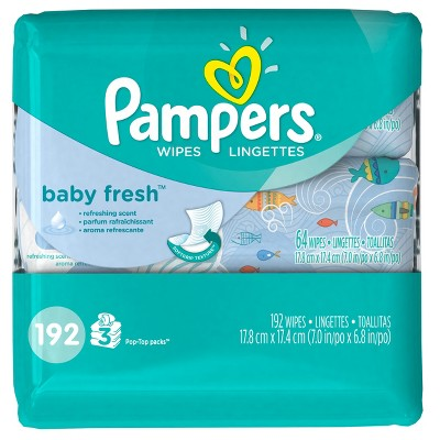 Pampers Baby Wipes Baby Fresh Scent - 192 ct