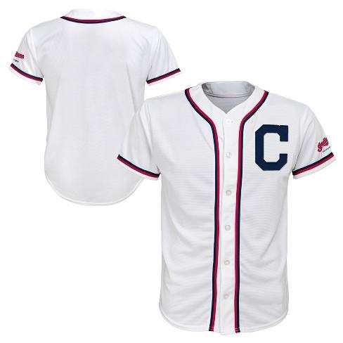 MLB Cleveland Indians Boys' White Team Jersey - image 1 of 3