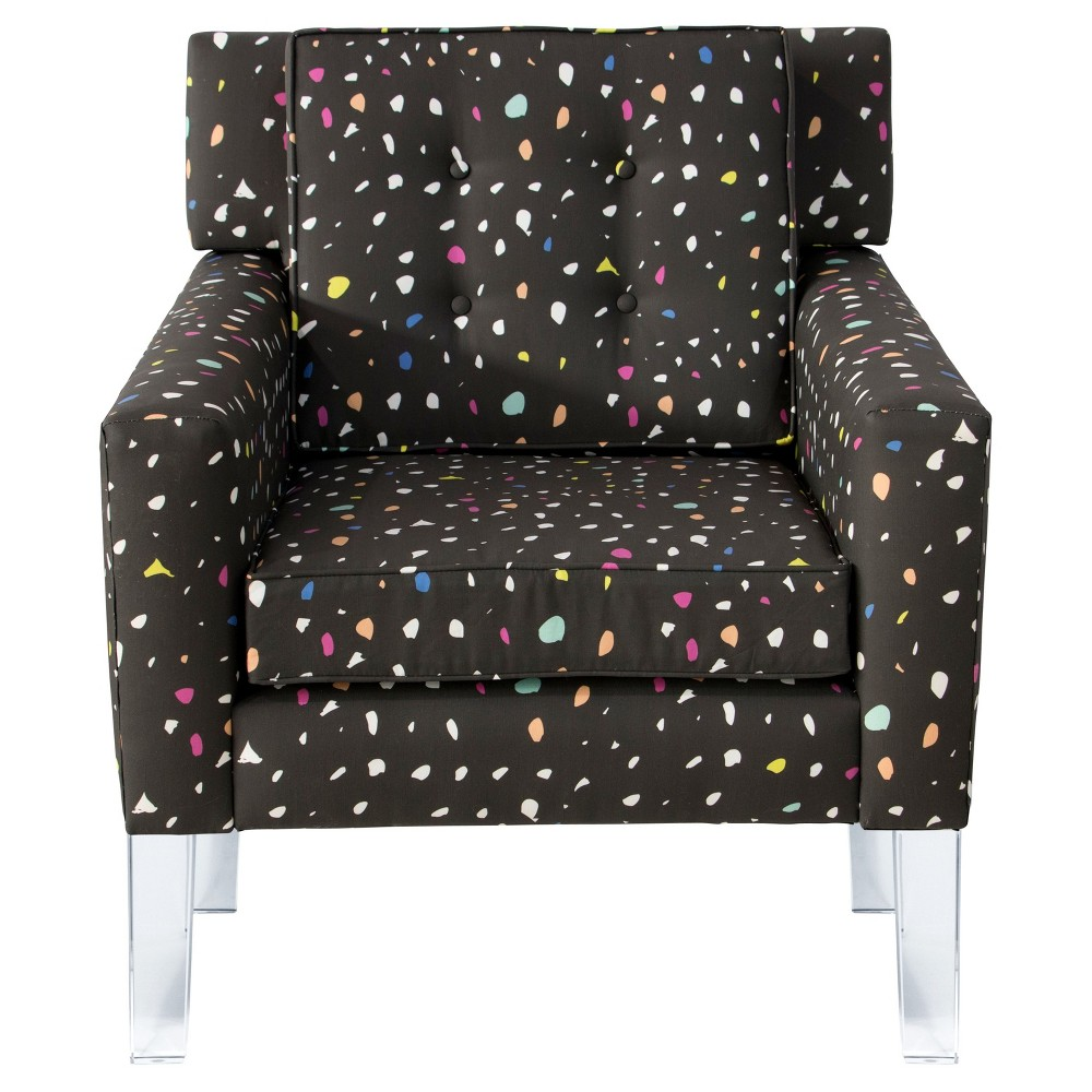 Amazing Arm Chair With Acrylic Legs Small Confetti Midnight Oh Joy Caraccident5 Cool Chair Designs And Ideas Caraccident5Info