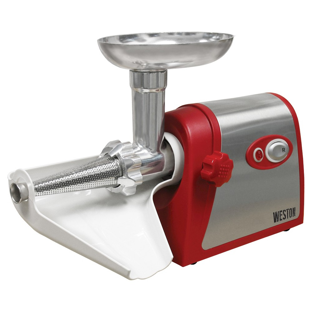 Weston Grinder & Electric Tomato Strainer, Red