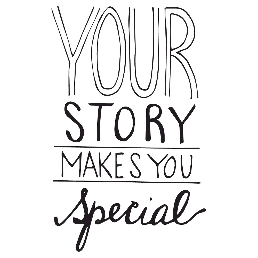 Your Story Wall Decal - Black