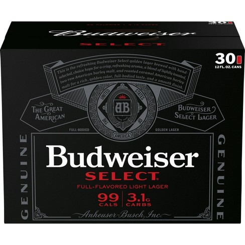 Budweiser Select Full-Flavored Light Lager Beer - 30pk/12 fl oz Cans - image 1 of 3