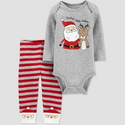 Baby Boys' 2pc 'Santa's Little Helper' Christmas Top and Bottom Set -  Just One You® made by carter's Gray