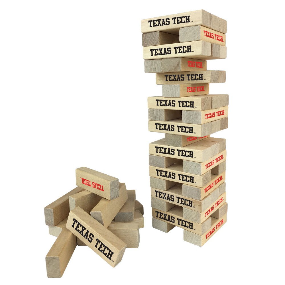 NCAA Wild SportsTabletop Stackers Game Texas Tech Red Raiders