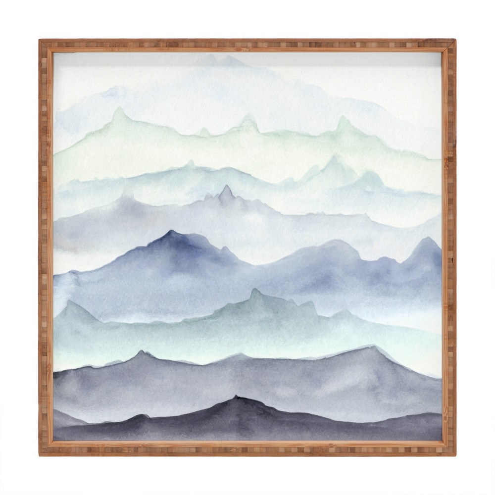 Wonder Forest Mountain Mist Tray (12) - Deny Designs, Blue