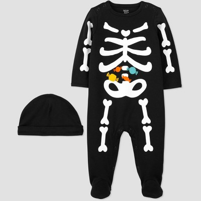 Baby Halloween Skeleton Sleep N' Play with Hat - Just One You® made by carter's Black 6M