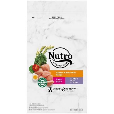 Nutro Wholesome Essentials Farm-Raised Chicken, Brown Rice & Sweet Potato Recipe Small Breed Senior Dry Dog Food - 5lbs
