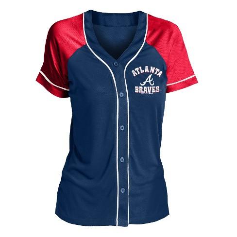 buy online 6fb32 86d38 MLB Atlanta Braves Women's Fashion Jersey